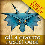 All 4 Events – Child Ticket (Aged 15 and under.)